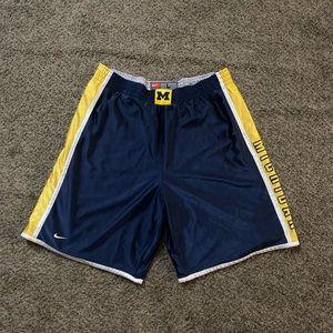 Nike University of Michigan reversible shorts